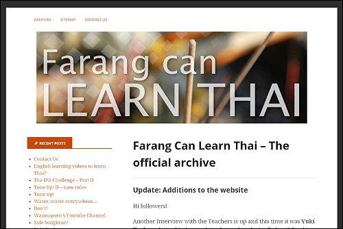 Farang Can Learn Thai